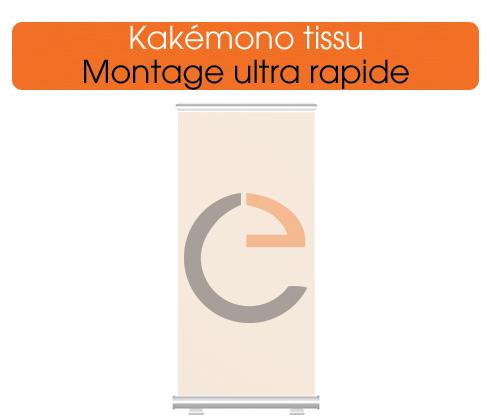 imprimer des kakémono tissu, facile à utiliser